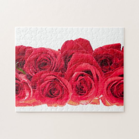 Bouquet of Bright Pink Roses Jigsaw Puzzle