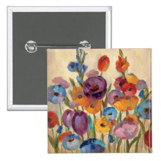Bouquet of Colorful Flowers Pins
