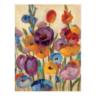 Bouquet of Colorful Flowers Post Cards
