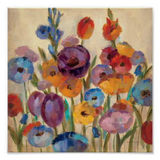 Bouquet of Colorful Flowers Poster