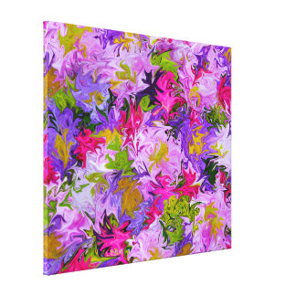 Bouquet of Colors Abstract Art Design Canvas Print