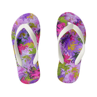 Bouquet of Colors Abstract Art Design Kid's Thongs