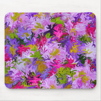 Bouquet of Colors Abstract Art Design Mouse Pad