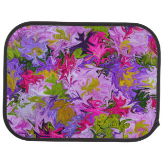 Bouquet of Colors Colorful Abstract Art Design Car Mat