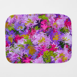 Bouquet of Colors Floral Abstract Art Design Burp Cloth