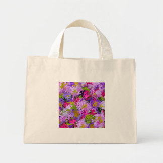 Bouquet of Colors Floral Abstract Art Design Mini Tote Bag