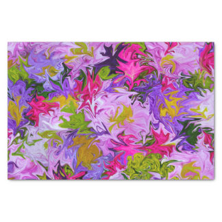 Bouquet of Colors Floral Abstract Art Design Tissue Paper