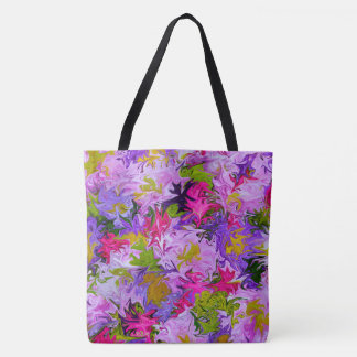 Bouquet of Colors Floral Abstract Art Design Tote Bag