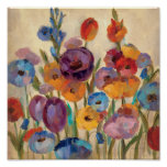 Bouquet of Colourful Flowers Poster