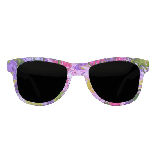 Bouquet of Colours Floral Abstract Art Design Sunglasses