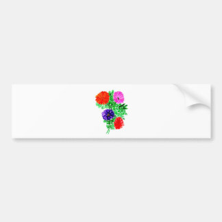 Bouquet of Flowers Art2 Bumper Sticker