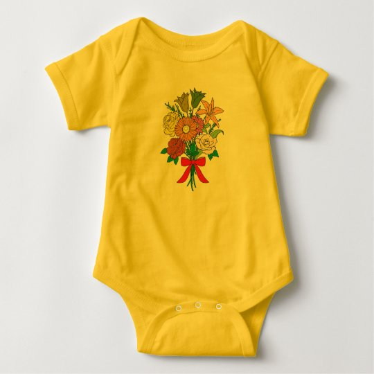 Bouquet of Flowers Baby Bodysuit