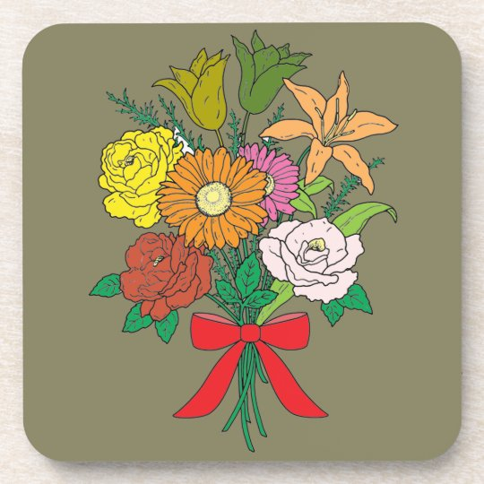 Bouquet of Flowers Beverage Coaster