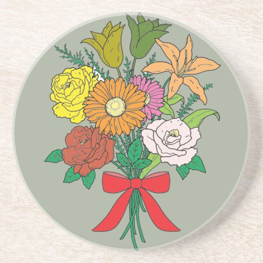 Bouquet of Flowers Beverage Coasters