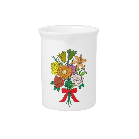 Bouquet of Flowers Beverage Pitcher