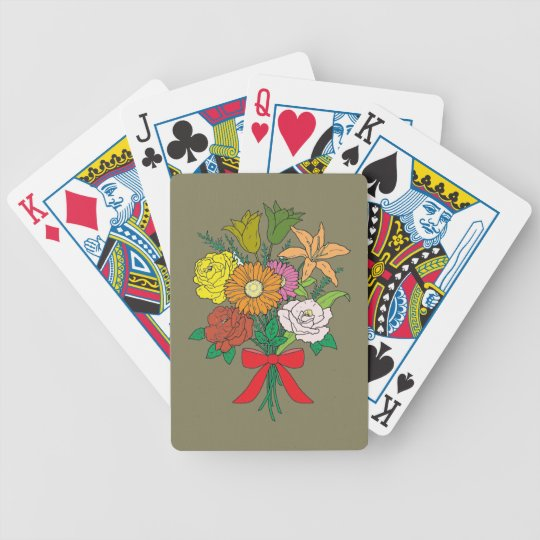 Bouquet of Flowers Bicycle Playing Cards
