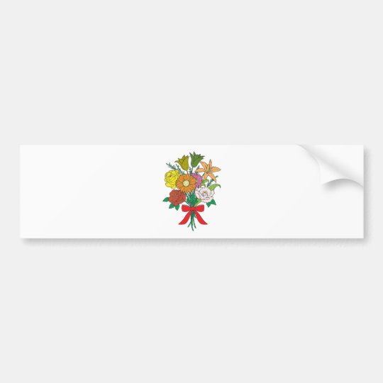 Bouquet of Flowers Bumper Sticker