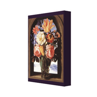 Bouquet of Flowers by  Ambrosius Bosschaert Canvas Print