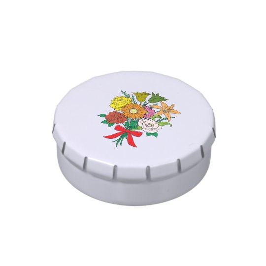 Bouquet of Flowers Candy Tins