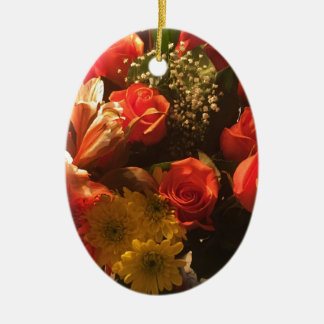 Bouquet of Flowers Ceramic Ornament