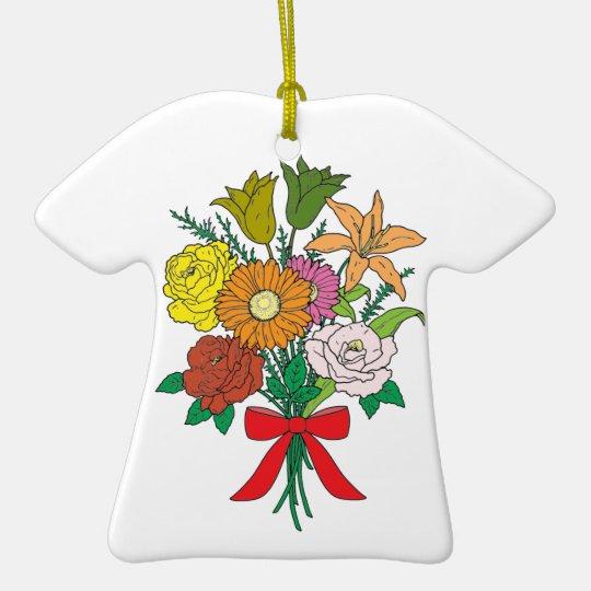 Bouquet of Flowers Ceramic T-Shirt Decoration