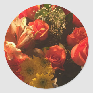 Bouquet of Flowers Classic Round Sticker