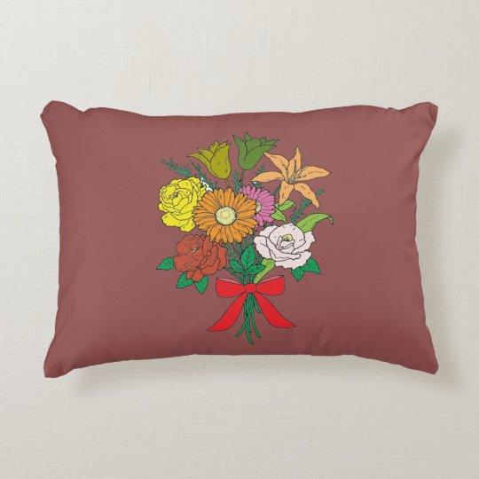 Bouquet of Flowers Decorative Cushion
