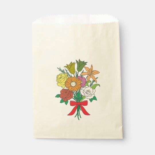 Bouquet of Flowers Favour Bag