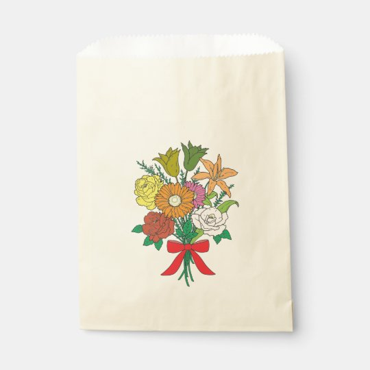 Bouquet of Flowers Favour Bags