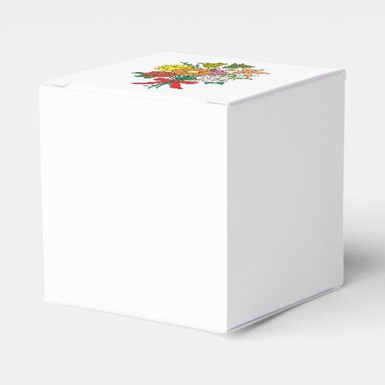 Bouquet of Flowers Favour Box