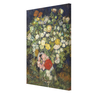 Bouquet of Flowers in a Vase Canvas Print