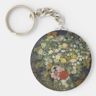 Bouquet of Flowers in a Vase Key Ring