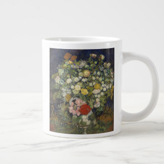 Bouquet of Flowers in a Vase Large Coffee Mug