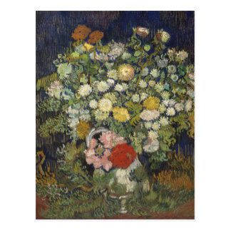 Bouquet of Flowers in a Vase Postcard