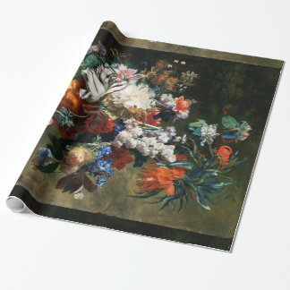 BOUQUET OF FLOWERS IN AN URN WRAPPING PAPER