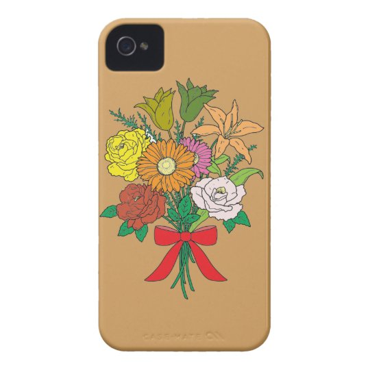 Bouquet of Flowers iPhone 4 Cover