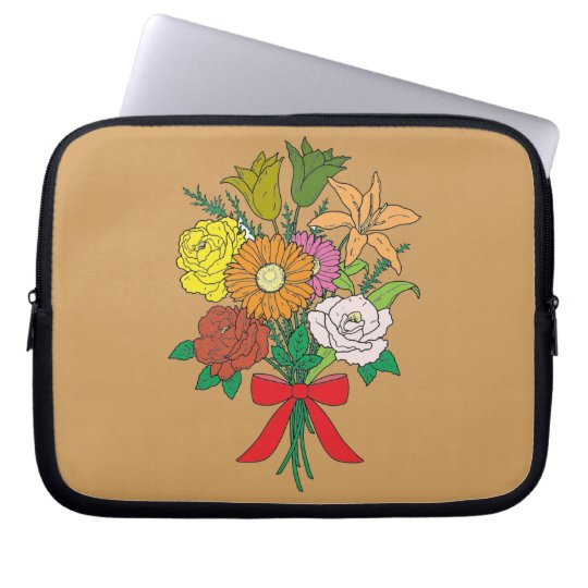 Bouquet of Flowers Laptop Computer Sleeve
