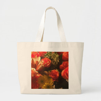 Bouquet of Flowers Large Tote Bag