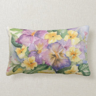 Bouquet of flowers lumbar cushion