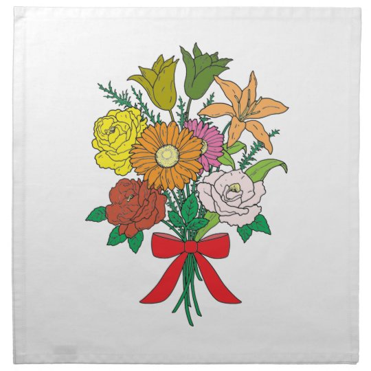 Bouquet of Flowers Napkin