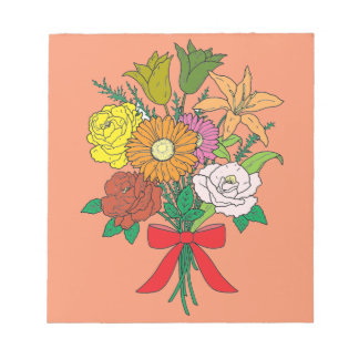 Bouquet of Flowers Notepad