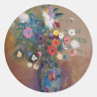 Bouquet of Flowers - Odilon Redon Classic Round Sticker