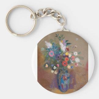 Bouquet of Flowers - Odilon Redon Key Ring