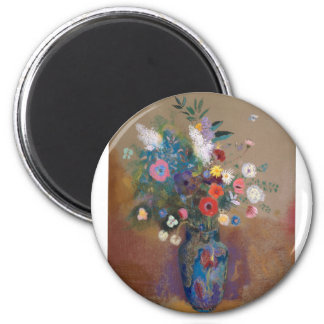 Bouquet of Flowers - Odilon Redon Magnet