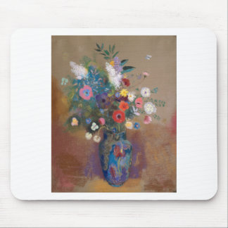 Bouquet of Flowers - Odilon Redon Mouse Pad