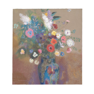 Bouquet of Flowers - Odilon Redon Notepad