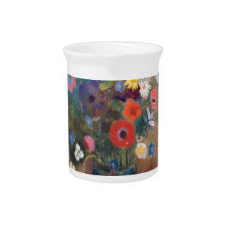 Bouquet of Flowers - Odilon Redon Pitcher