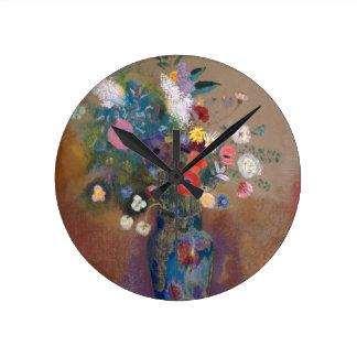 Bouquet of Flowers - Odilon Redon Round Clock