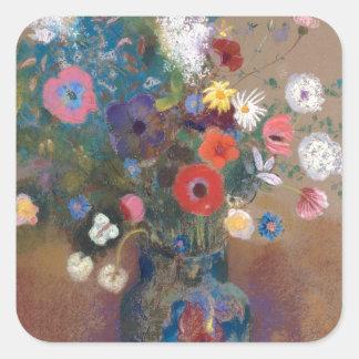 Bouquet of Flowers - Odilon Redon Square Sticker