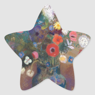 Bouquet of Flowers - Odilon Redon Star Sticker
